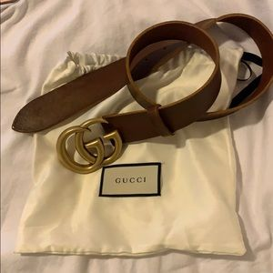 Men's Gucci belt brown and gold